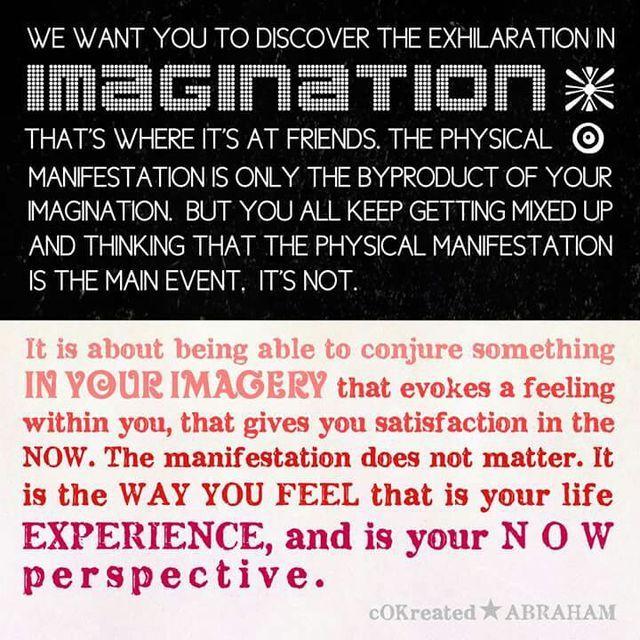 Image result for imagination + physical + manifestation