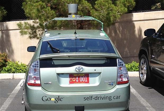 Google's autonomous cars have passed their first driving test in Nevada, which included a trip along the famous Las Vegas Strip.