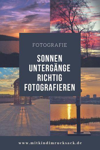 Sonnenuntergänge richtig fotografieren. Tipps und Tricks für tolle Bilder. #Fo… – Kurosh Sadri