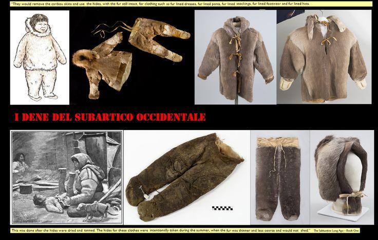Il clima subartico richiede abiti caldi e pratici.L'abbigliamento invernale dei bambini era simile a quello degli adulti.
