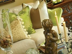 colors and fabricsInterior Design, Joy Tribout, Living Room, Interiors Design, Brown, Tribout Interiors, Throw Pillows, Decor Thoughts, Interiors Decor