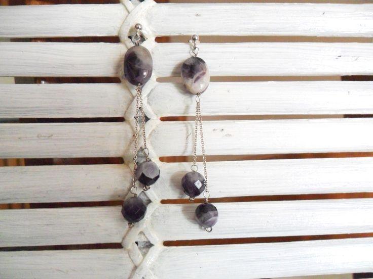 Orecchini in argento e ametista di CerBys Gioielli su DaWanda.com
