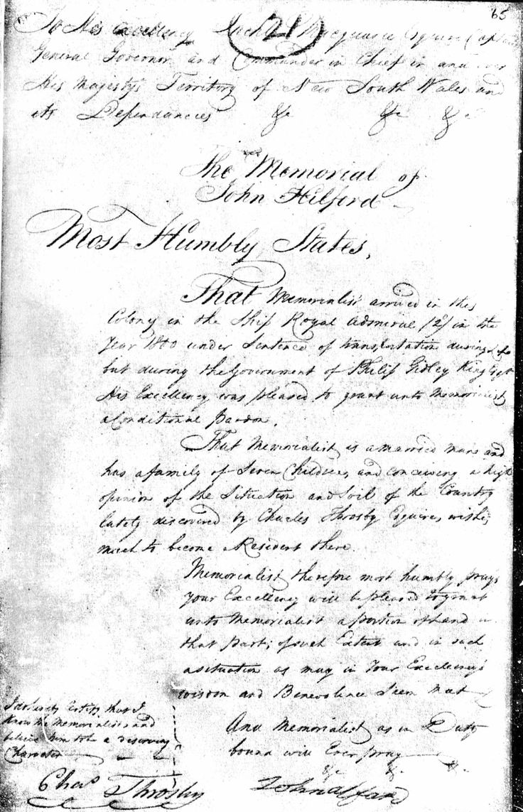 John Alford letter to governor about land grant in parish of Exetor