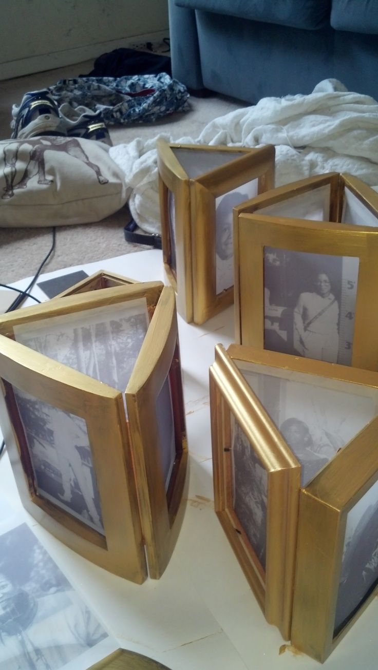 Illuminated Picture Frame For The Centerpieces 60th