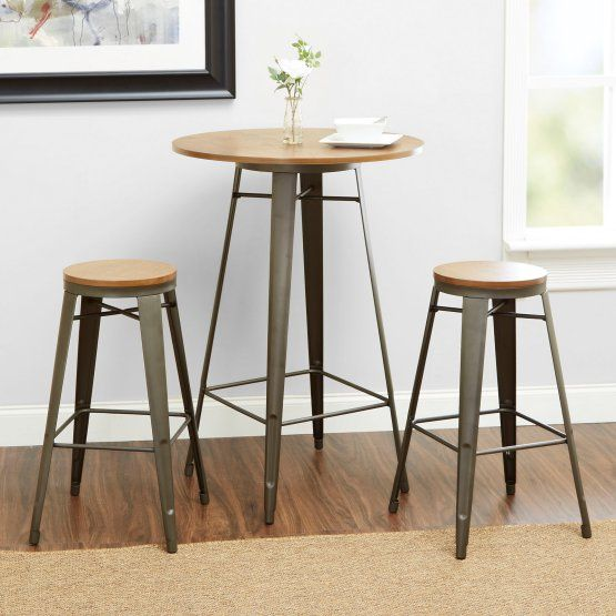 Better Homes and Gardens Harper 3 Piece Round Pub Table Set
