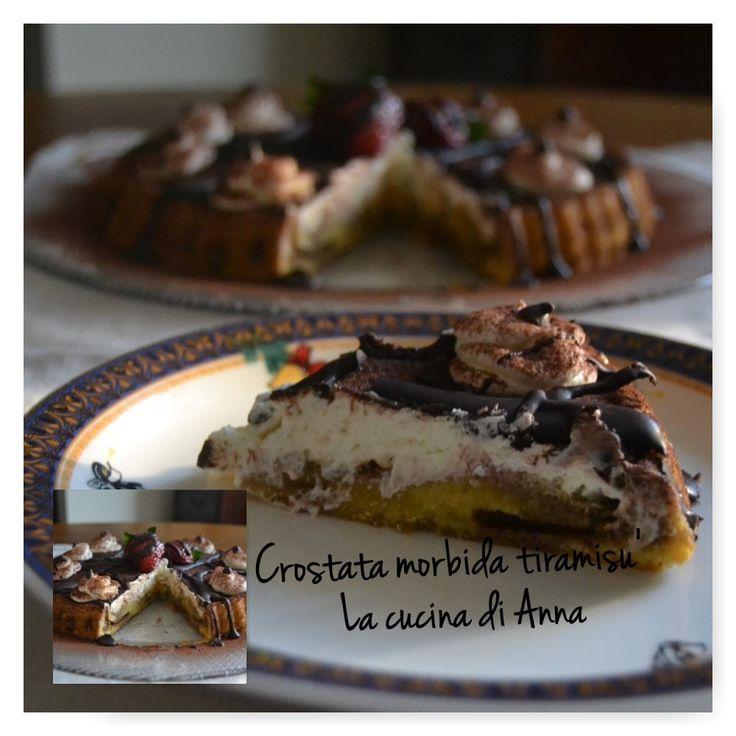 """""""Crostata morbida Tiramisù """"   Ingredienti per lo stampo   _______________________     3 uova   130 g zucchero   100 g di burro fuso ..."""