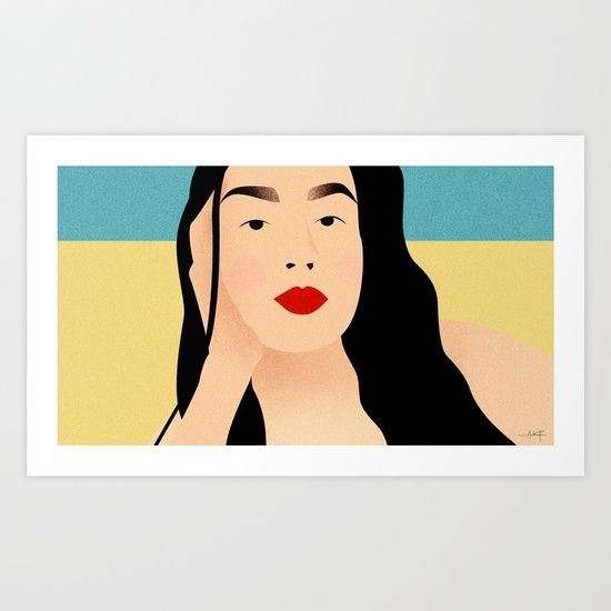 Portrait of a loved one - Beach series Art Print