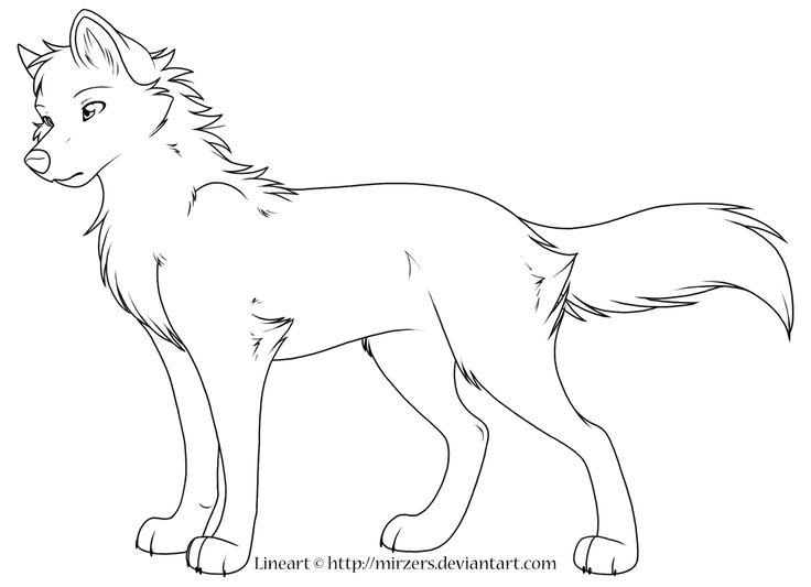 Contemporáneo Lobo Anime Con Alas Para Colorear Motivo - Ideas Para ...