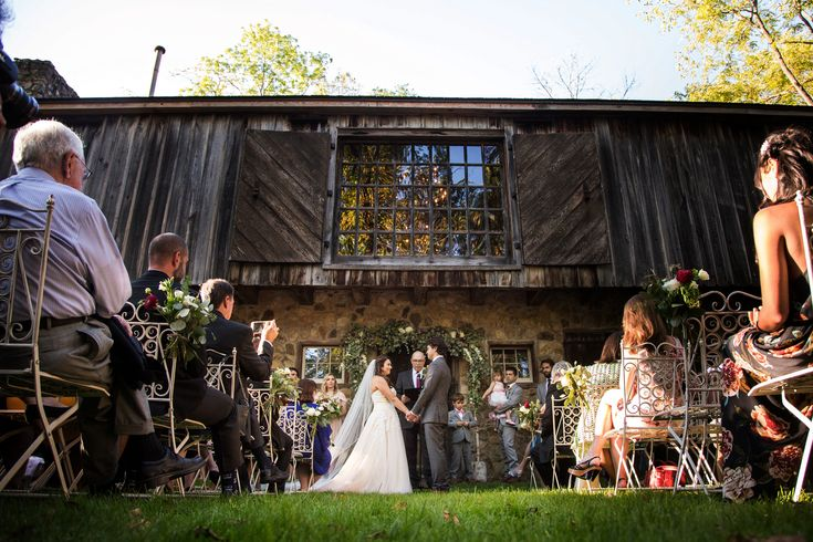 Ceremony behind the Mule Barn