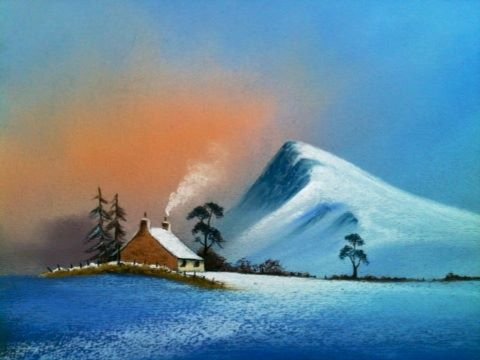St Foy   French Alps pastel