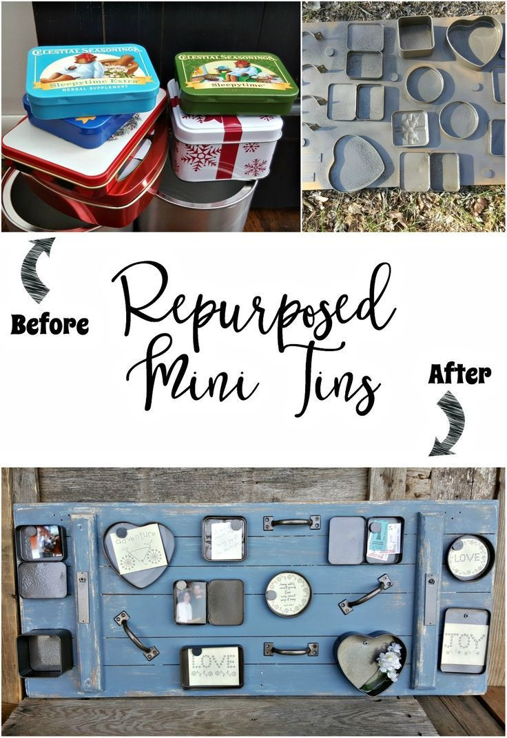 Repurposed Mini Tins into Gallery Wall, Photo Display, Printables, Mementos