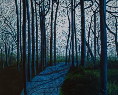 "Saatchi Art Artist Birgit Grassl; Painting, ""Easter Walk in Forest"" #art"
