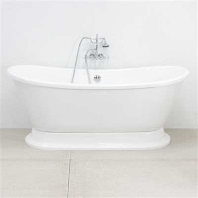 Love this tub! Vintage Whirlpool Air Jetted Free Standing Pedestal Bath Tub with Integrated Blower