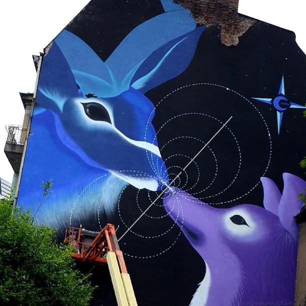 Found on Starpin. #Poznań #Poznan #Jeżyce #festiwal #festival #outer #spaces #urban #forest #2013 #graffiti #streetart #art #mural #wall #marina #zumi