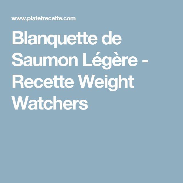 Blanquette de Saumon Légère - Recette Weight Watchers
