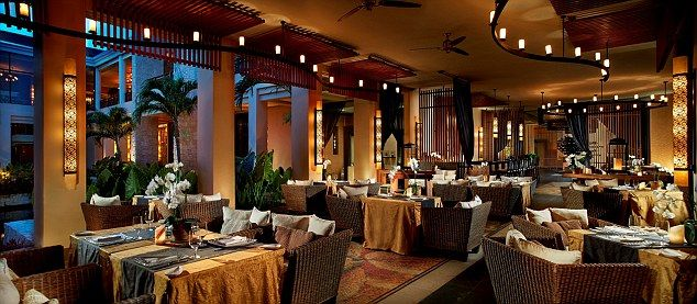 At Tamarind restaurant a European-inspired menu and sophisticated wine list cater for international tastes