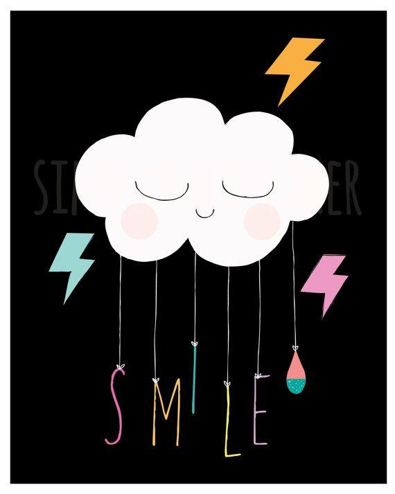 SMILE. Art Print. Kids Print. Nursery decor by simplymeandher