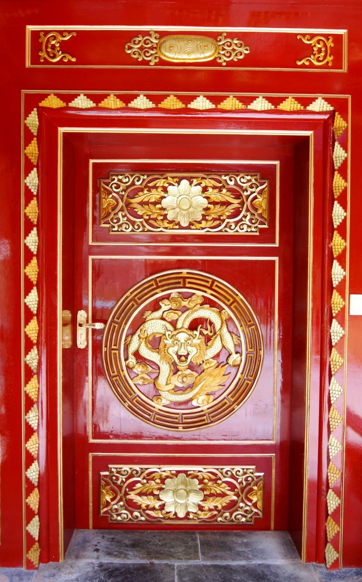 Red laquered door in Shuzheng Zhai Sichuan China & 41 best Chinese Doors images on Pinterest | Windows French doors ...