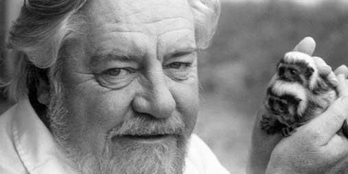 The Durrell Wildlife Conservation Trust is committed to saving species from extintion.  As a young girl, I read his book The Stationary Ark....and I was hooked!  From that point on I wanted to spend my days on the island of Jersey working with Mr. Durrell.  He is definitely one of my heros!  Sadly, he died in 1995, ....