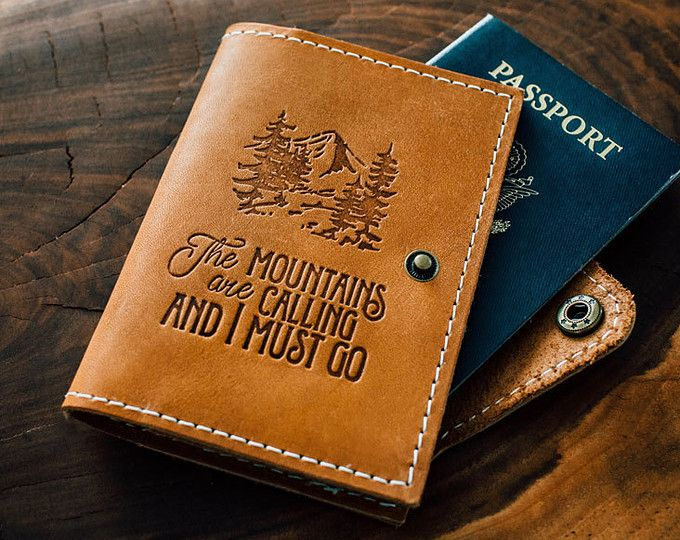 Leather Passport Case - Passport autumn call by VIDA VIDA fR68s