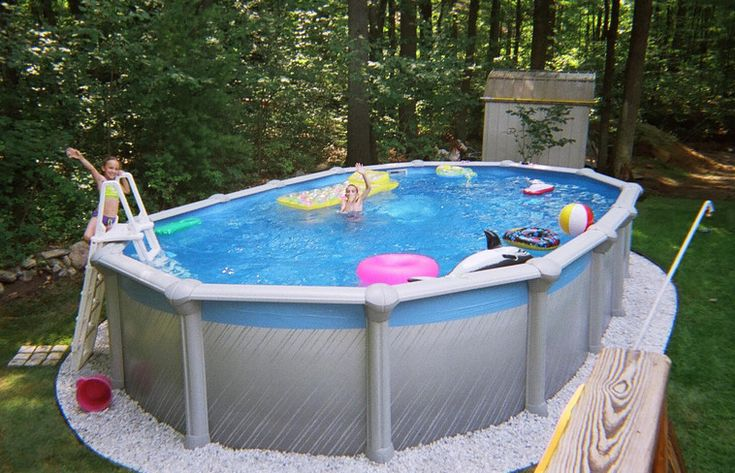 16x32 oval above ground pool pools backyards - Largest above ground swimming pool ...