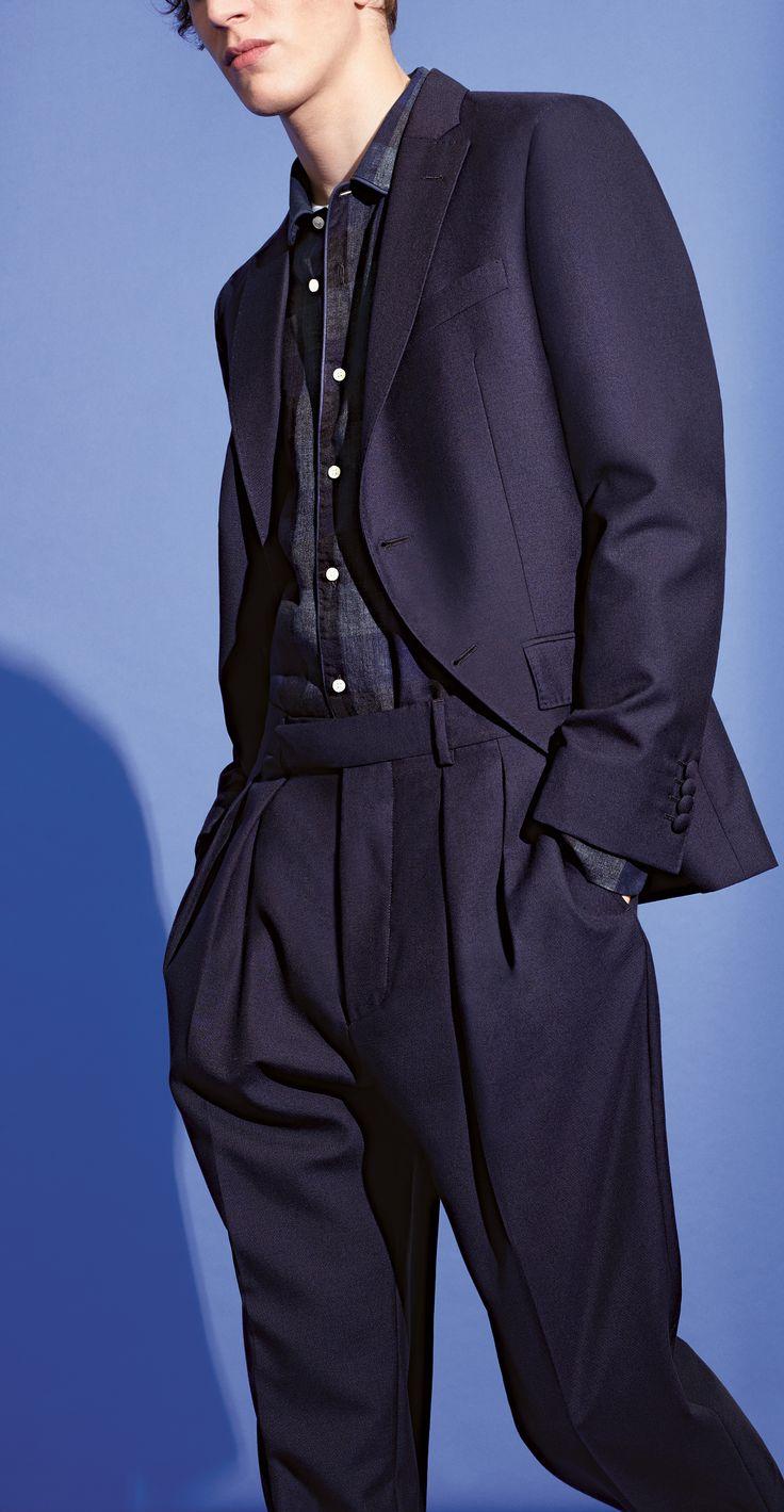 Veste en flanelle, chemise en lin, pantalon en laine - OFFICINE GENERALE #LeBonMarche #pe2016 #ss2016 #men #hommes