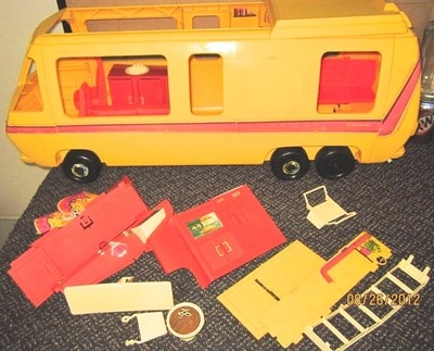 Barbie Star Traveler RV Yellow Bus Vintage Incompleted | eBay: Bus Vintage, Crazy Ideas, Yellow Bus