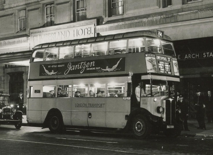 Early double decker bus london