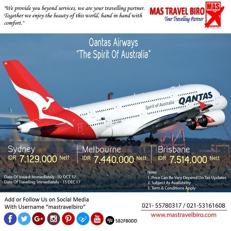 Terbang keSydney dengan Qantas Airways Hanya Rp 7.129.000 Pesan Sekarang 😊  #mastravelbiro #sydney #tiketpromo #tiketpesawat #travelagent