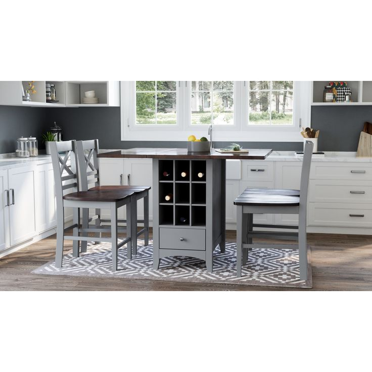 asbury park 5piece counter height table and stool set