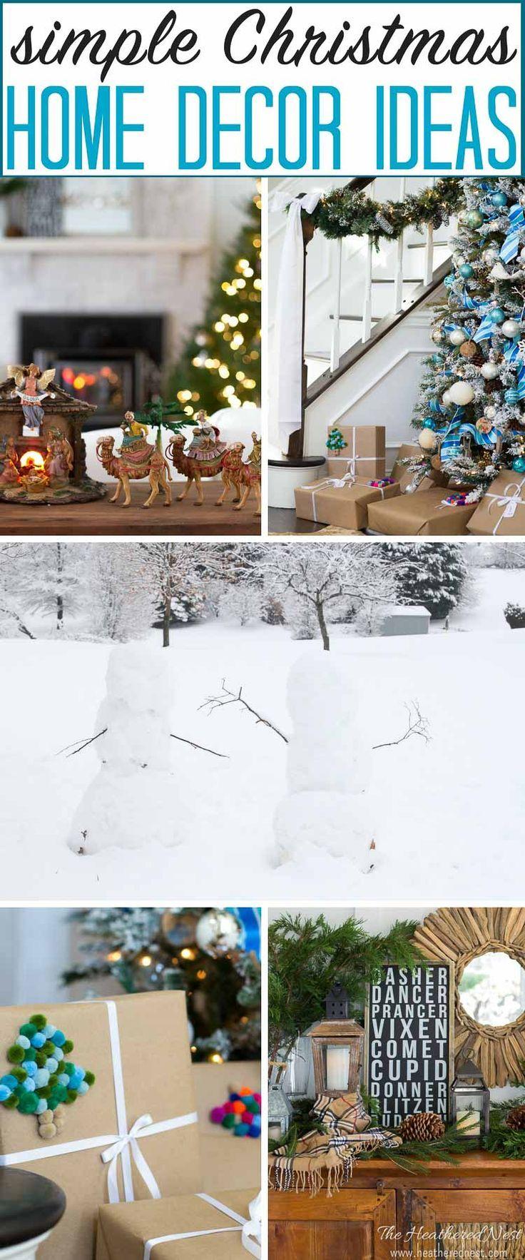 simple, classic christmas home decor ideas-holiday home tour ...