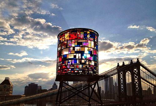Stain Glass Water TowerArtists, 01 Inspiration, Art Stained, Stained Glasses Water Towers, Brooklyn Bridges, Buildings, Wacky Watertower, Architecture I, Backyards