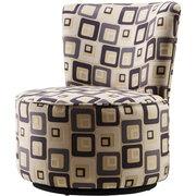 Brick Swivel Chair, Grey Multi