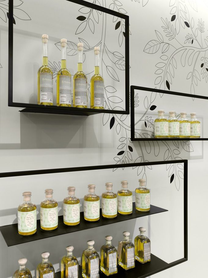 The Cool Hunter - TA-ZE Premium Olive Oil Store - Toronto, Canada (love these shelves!)