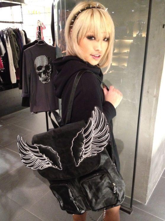 wings!  Love her headband too