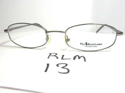 Ralph Lauren Polo Rectangular Full Rim Metal Eyeglasses Frame, New Old  Stock Frame Style: