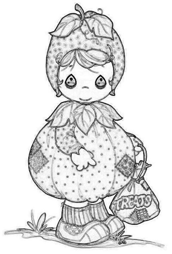 precious moments coloring pages autumn - photo#4