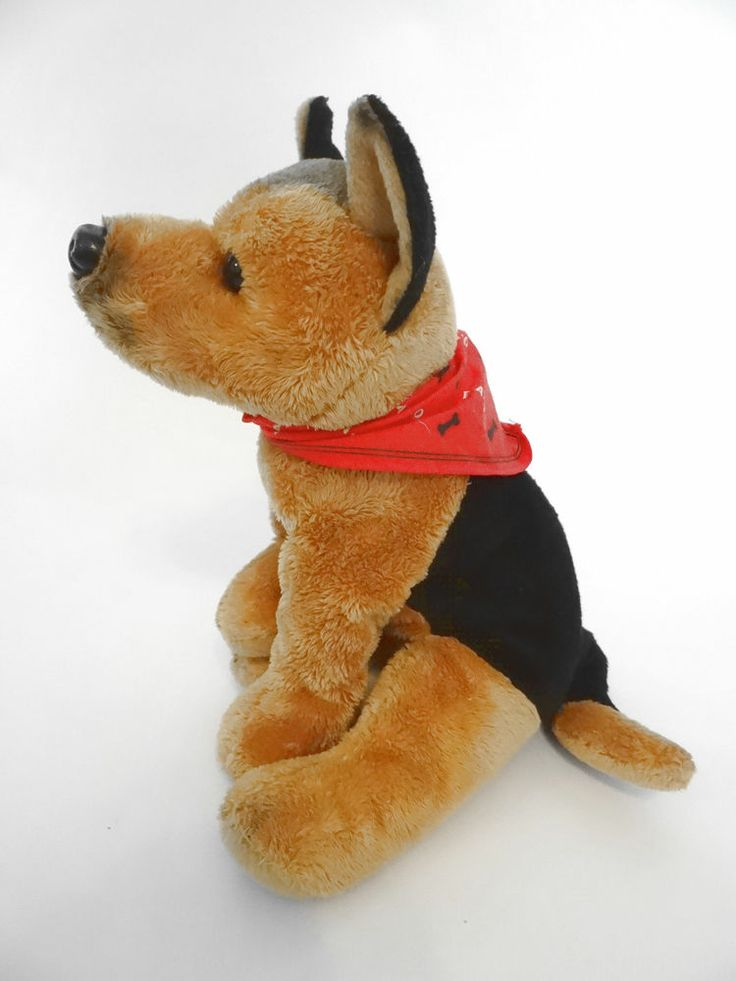 FAO Schwarz German Shepherd Dog Puppy Plush Stuffed Animal 12 ...