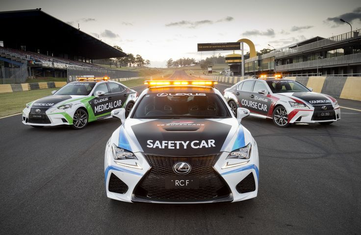LEXUS ROARS INTO V8 SUPERCARS WITH RC F SAFETY CAR