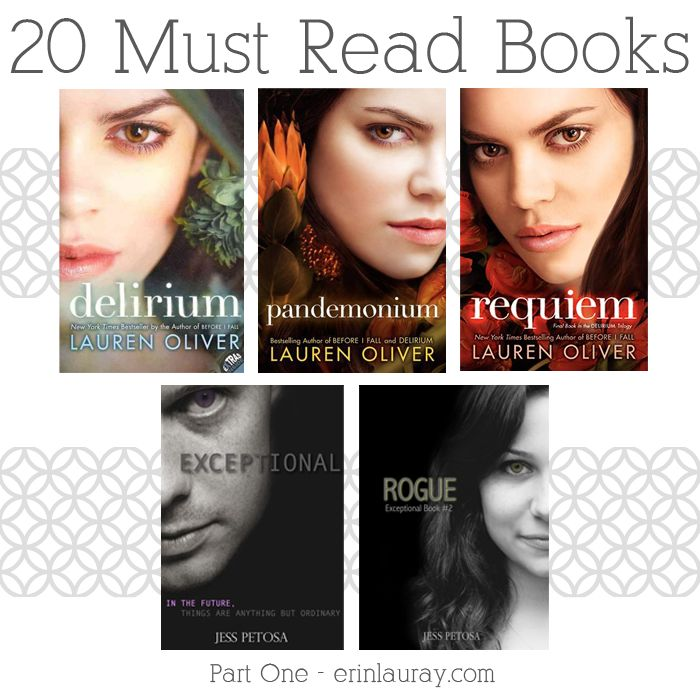 20 Must-Read Books (erin lauray: Book Nerd – My Favorites – Part 1) #readersadvisory #youngadult #ya