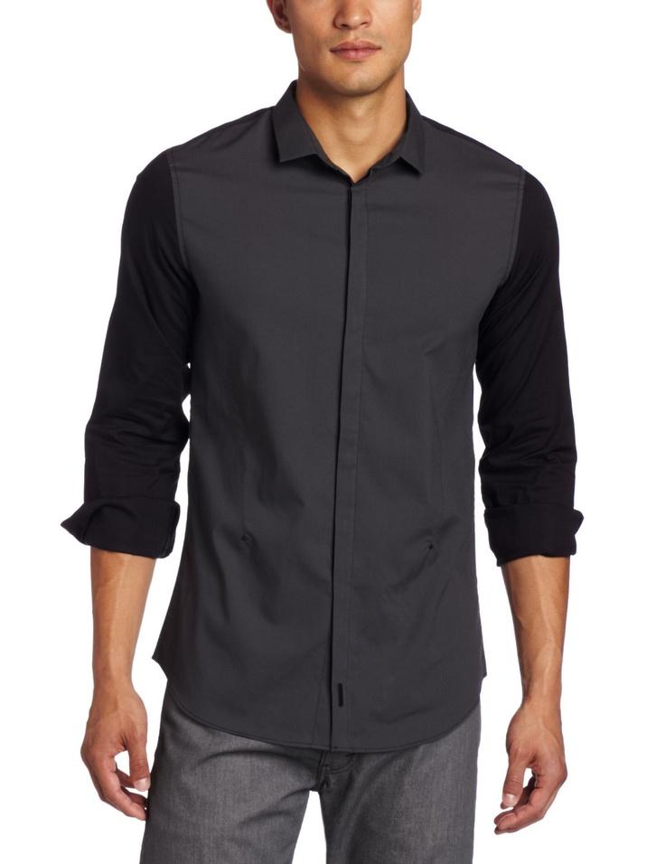 #CalvinKlein Sportswear #Men's Long Sleeve Color Block Poplin Woven - $79.50