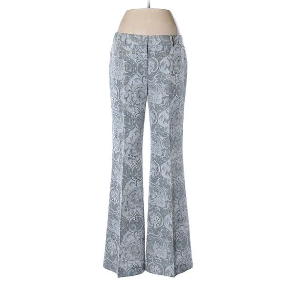 Express Dress Pants ($22) ❤ liked on Polyvore featuring pants, grey, slacks trousers, grey trousers, grey pants, suit pants and dress pants