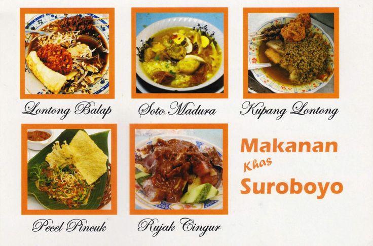 Suroboyo (Surabaya), kota terbesar kedua di Indonesia yang juga ibu kota propinsi Jawa Timur, kaya akan makanan tradisional seperti Lontong Balap, Soto Madura, Kupang Lontong, Pecel Pincuk dan Rujak Cingur. Berbagai kuliner tersebut memang sangat menggoda lidah. Makanan Khas Suroboyo   Hqeem Stamps
