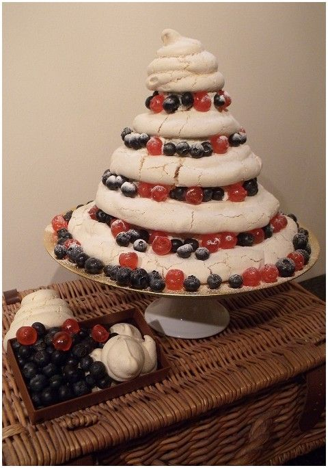 Alternative wedding cake idea -  meringue tower cake