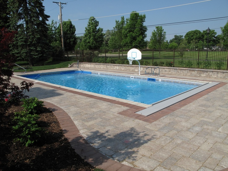 17 best images about pool on pinterest hot tub deck for Cheap rectangle pools