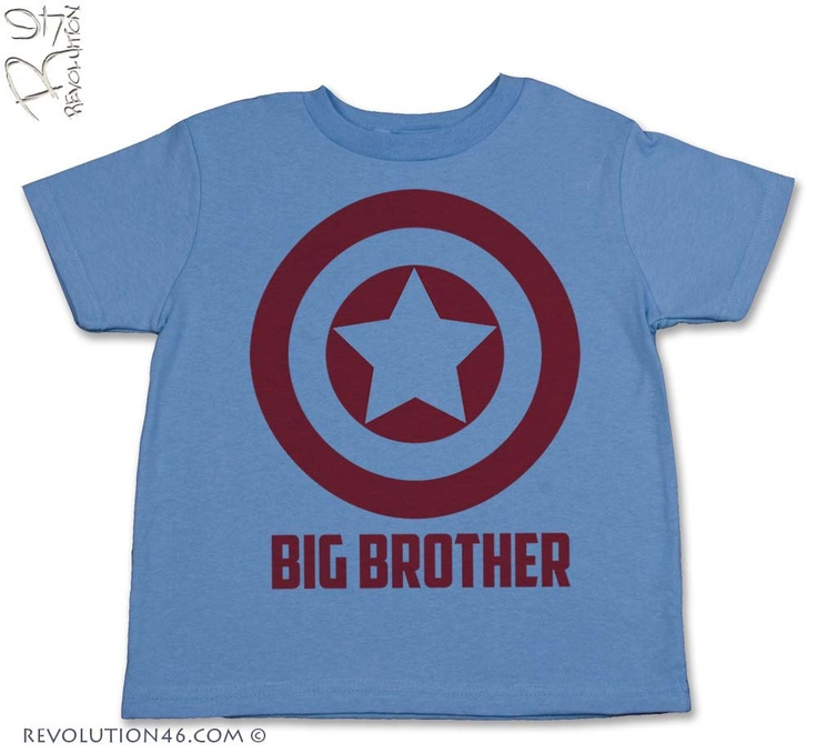 Captain America Big Brother TShirt big brother by REVOLUTION46R46 I have to get this for Troy!!!