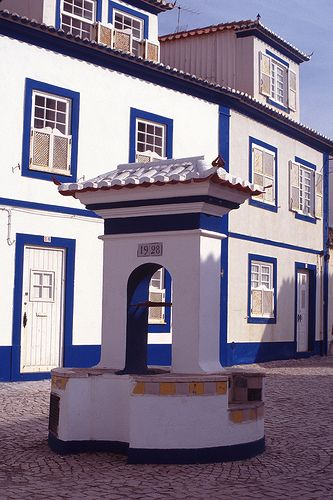 Ericeira village, near Lisbon with its typical architecture and bright colors…