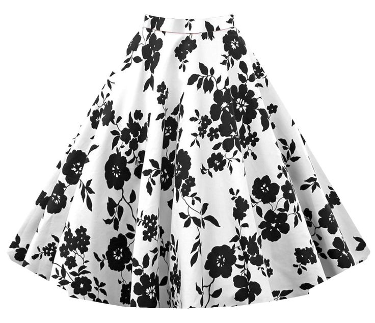 This skirt keeps retro flower print design,which can make you looked elegant and a-line and waist style can also make you looked slimmer and taller,this skirt is very suitable for you to wear to some