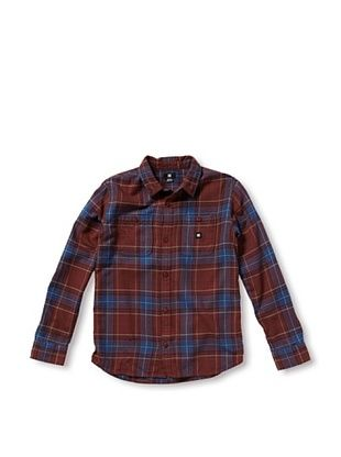 67% OFF DC Boy's 8-20 Kingsmen Button-Up (Marooned Plaid)