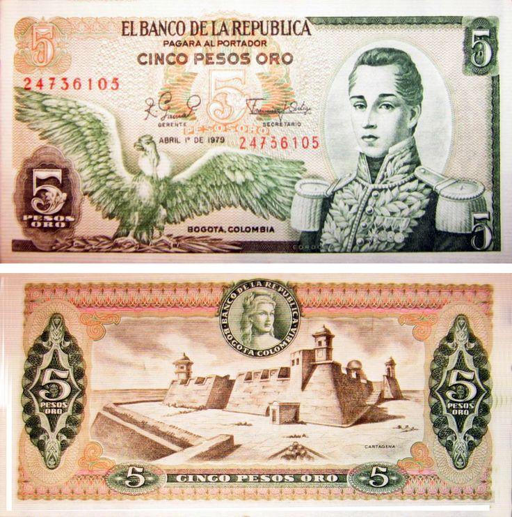 Billete - Colombia - (1971-1980) - 5 pesos